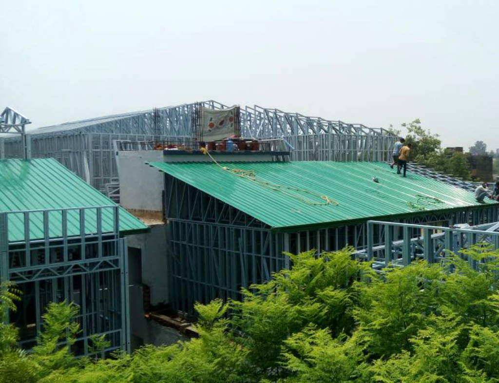 lgsf building light gauge steel framing construction in india rh championprefabs com Light Gauge Metal Stud Sizes Light Gauge Metal Framing Sizes