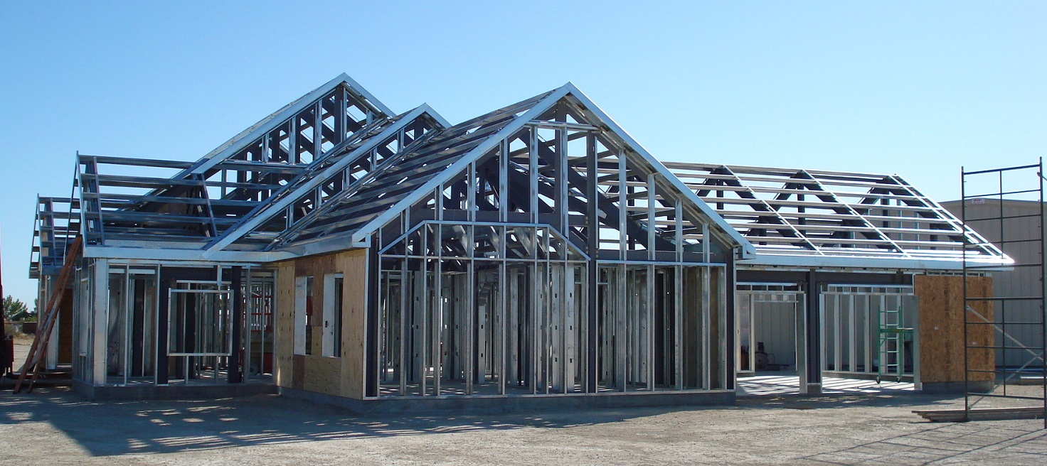 Steel Frame House Construction : Steel structure buildings in india