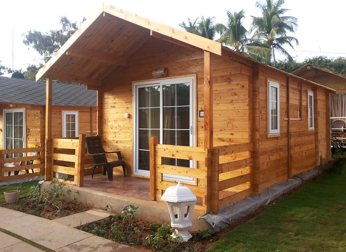 Ready Made Homes : Wooden houses in india prefab house cost