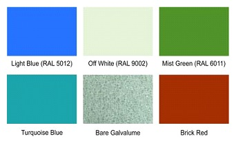 roofing and cladding standard shades available